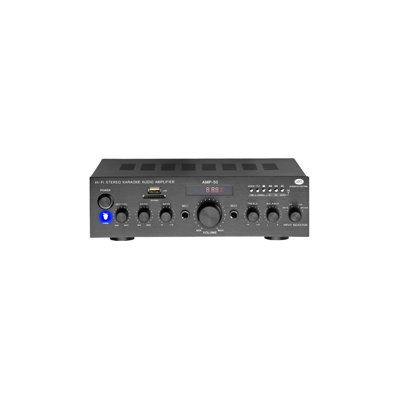 AMP50  AMPLIFICADOR HI-FI 50W USB/MP3