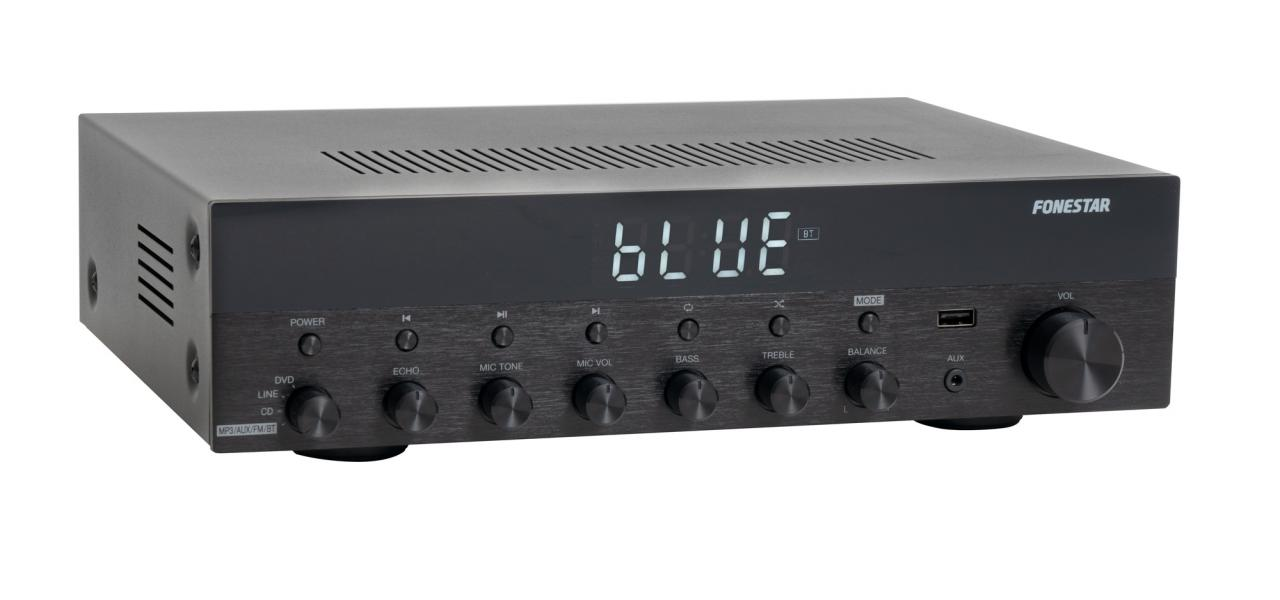 AS6060  AMPLIFICADOR 2x60W BT/MP3/USB/FM