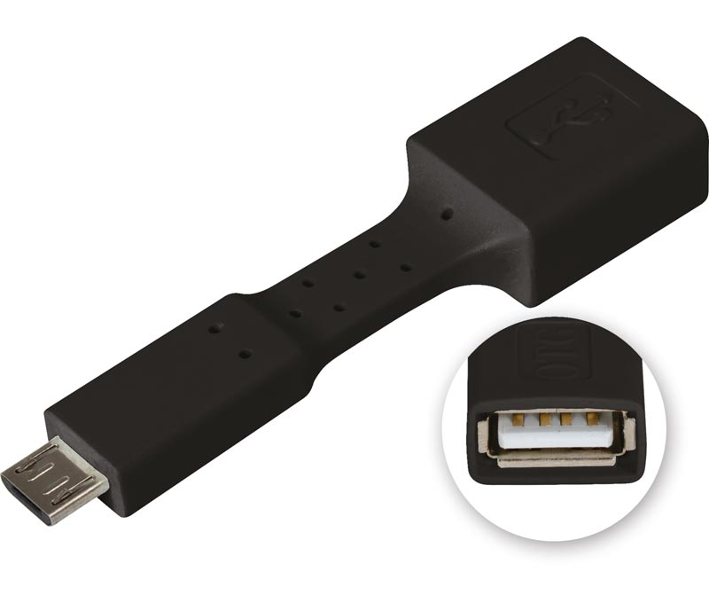CON516N  ADAPTADOR OTG FLEXIBLE NEGRO