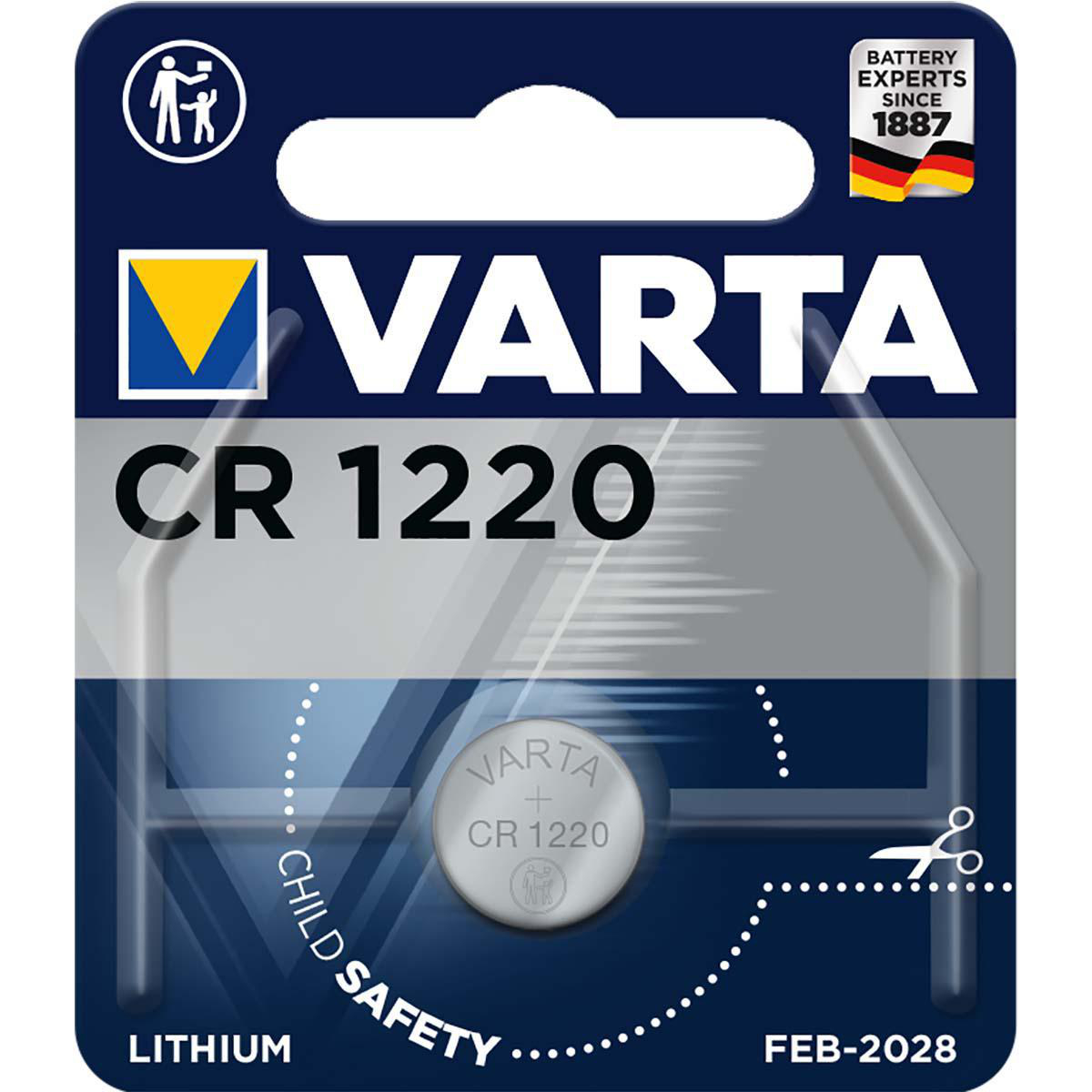 V-CR1220  PILA DE LITIO 3V VARTA