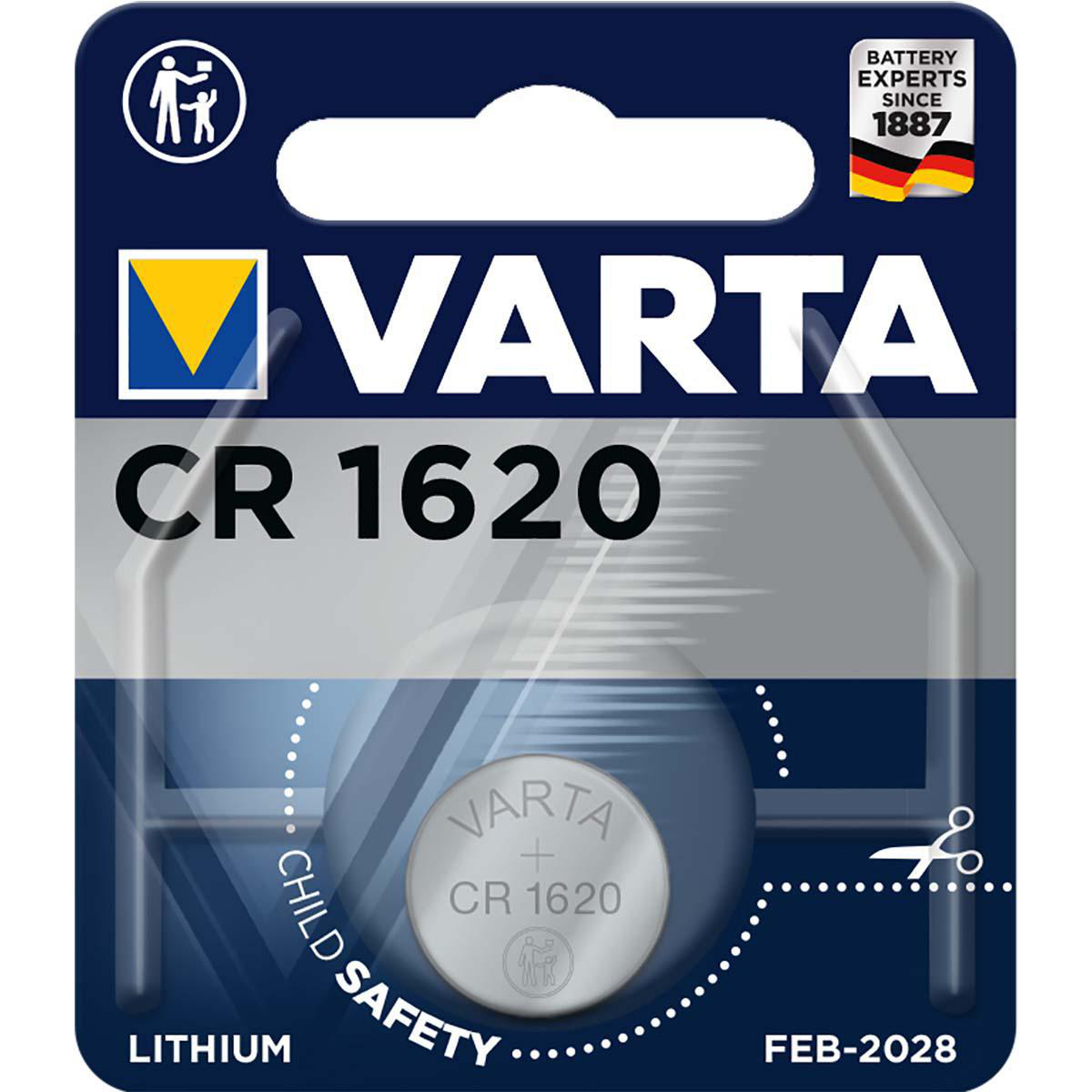 V-CR1620  PILA DE LITIO 3V VARTA