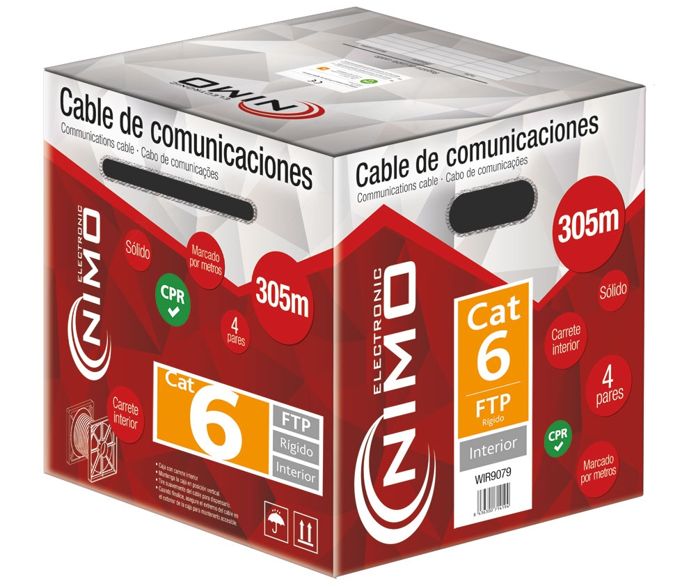 WIR9079  CABLE FTP CAT6 APANTALLADO (METRO)
